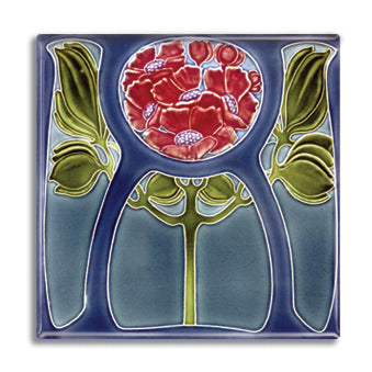 Art Nouveau Tile 30 Fridge Magnet<br>(Pack of 10)