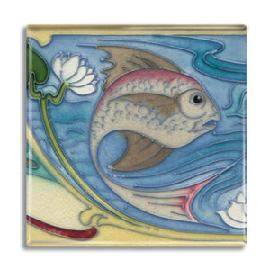 Art Nouveau Tile 03 Fridge Magnet<br>(Pack of 10)