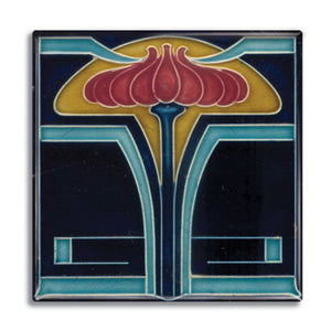 Art Nouveau Tile 06 Fridge Magnet<br>(Pack of 10)