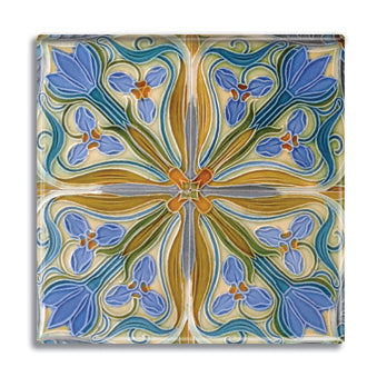 Art Nouveau Tile 07 Fridge Magnet<br>(Pack of 10)