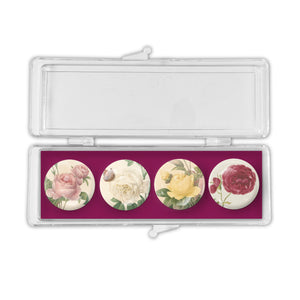 Mixed Roses - Crystal Magnets set of 4<br>(Pack of 10)