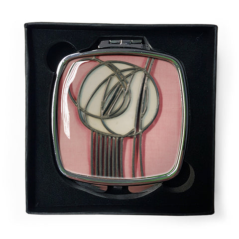 Pink Rose Compact Mirror<br>(Pack of 5)
