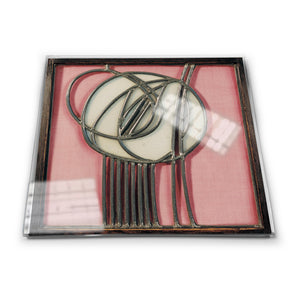 Pink Rose Glass Coaster<br>(Pack of 10)
