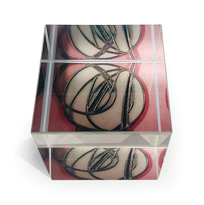 Pink Rose Paperweight<br>(Pack of 5)