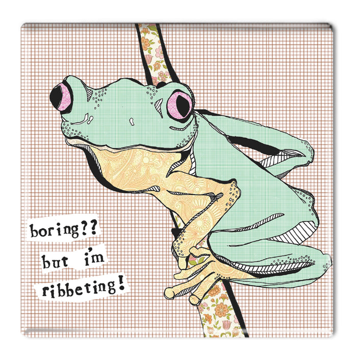 I'm ribbeting! - Fridge Magnet<br>(Pack of 10)