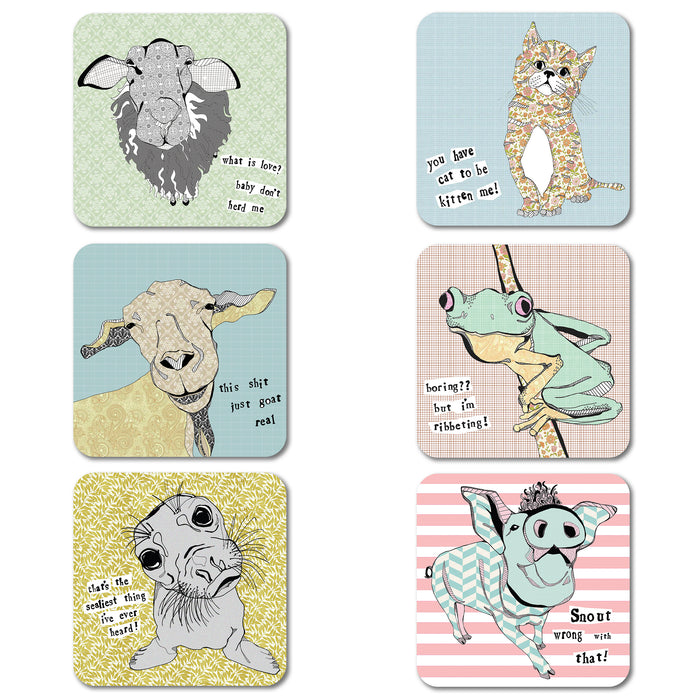 Casey Rogers - Coaster set of 6<br>(Pack of 4)