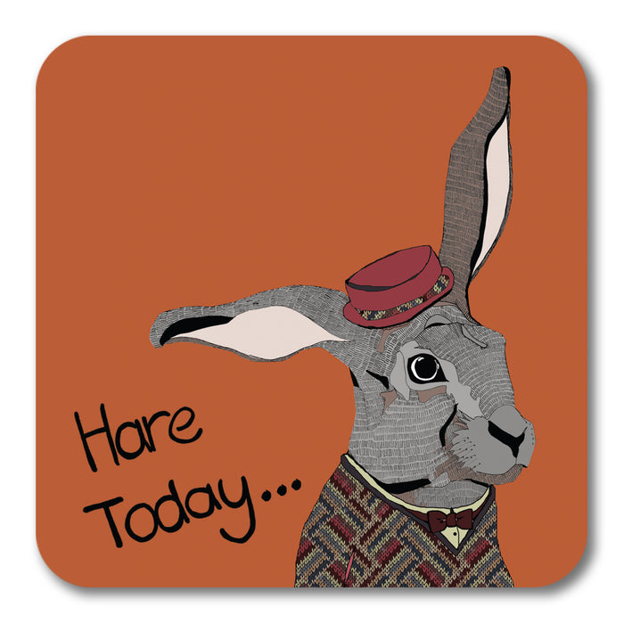 Hare Today Coaster <br> (Pack of 10)
