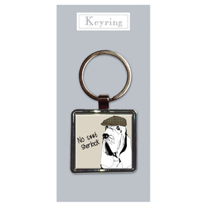 No S**t Sherlock - Metal Keyring<br>(Pack of 10)