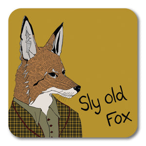 Sly Old Fox Coaster <br> (Pack of 10)