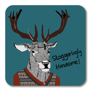 Staggeringly Handsome! Coaster <br> (Pack of 10)