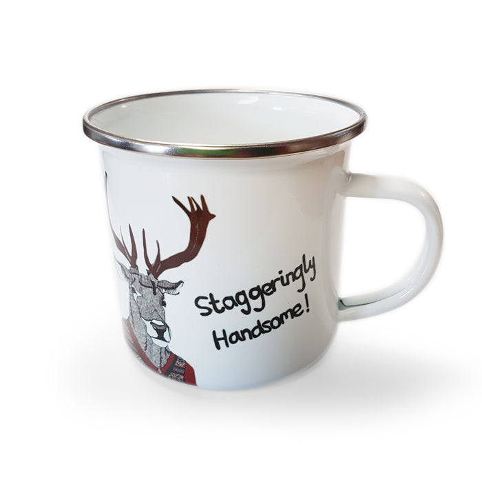 Staggeringly Handsome - Enamel Mugs