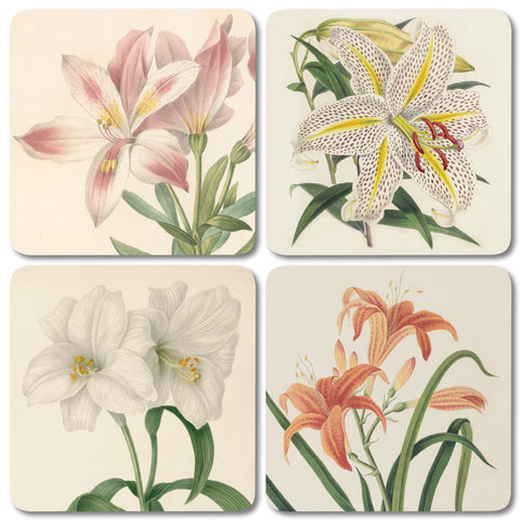 Mixed Lilies - Coaster Set of 4<br>(Pack of 4)