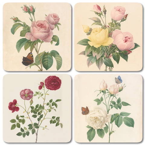 Mixed Roses - Coaster Set of 4<br>(Pack of 4)