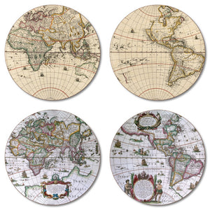 Antique Maps Tablemat Set of 4<br>(Pack of 2)