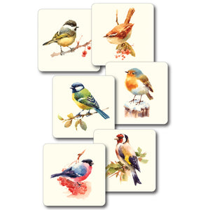 Mixed Birds 2 - Coaster set of 6<br>(Pack of 4)