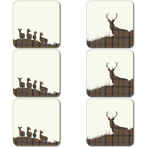 Stag and Hinds Coaster Set<br>(Pack of 2)