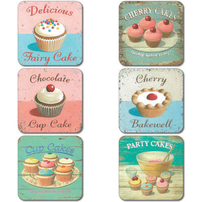 Fairy Cakes Coaster set of 6<br>(Pack of 4)