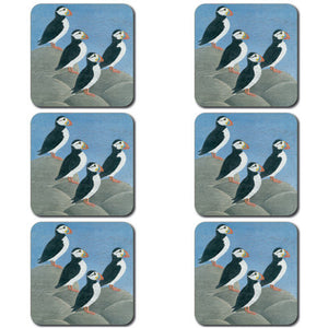 Puffins Coaster set of 6<br>(Pack of 4)