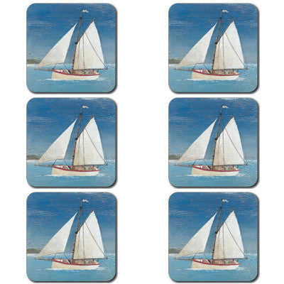 Sail Boat Coaster set of 6<br>(Pack of 4)