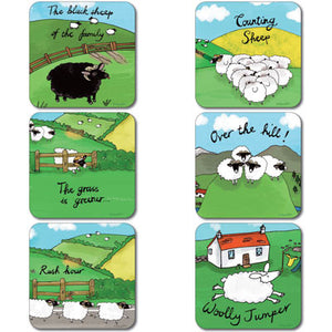 Sheep Coaster Set of 6<br>(Pack of 4)
