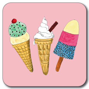 Ice Cream Coaster<br>(Pack of 10)