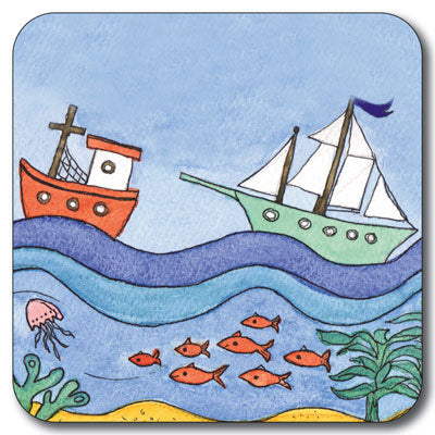 Jolly Boats Coaster<br>(Pack of 10)