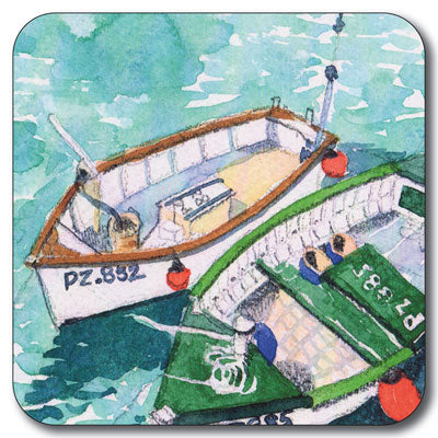 Penzance Boats Coaster<br>(Pack of 10)