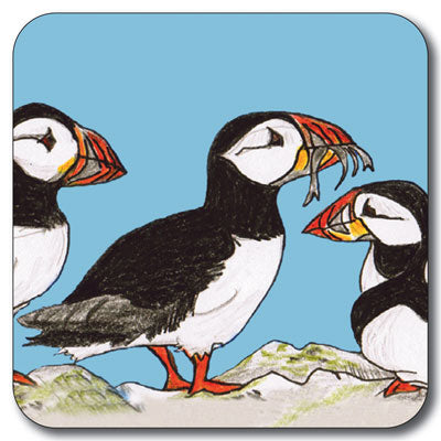 Puffins Coaster<br>(Pack of 10)