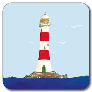 Red & White Lighthouse Coaster<br>(Pack of 10)