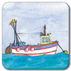 White Trawler Coaster<br>(Pack of 10)