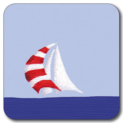 Red Spinnaker Coaster<br>(Pack of 10)