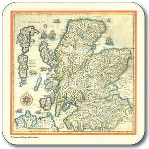 Antique Map Coaster<br>(Pack of 10)