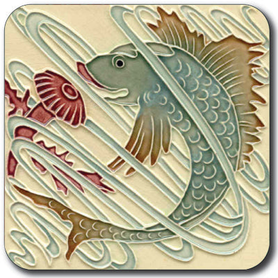 Art Nouveau Tile 02 Coaster<br>(Pack of 10)