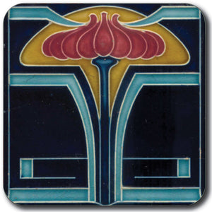 Art Nouveau Tile 06 Coaster<br>(Pack of 10)