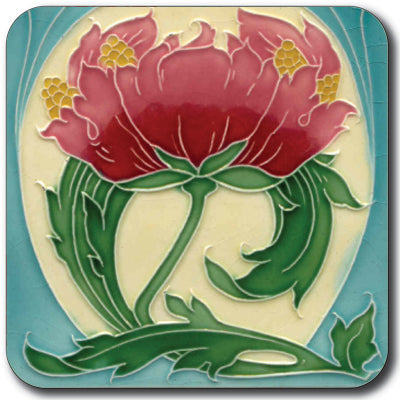 Art Nouveau Tile 22 Coaster<br>(Pack of 10)