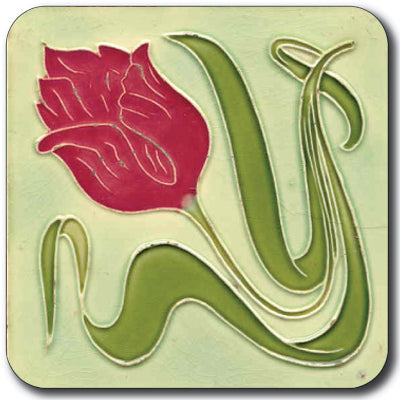 Art Nouveau Tile 28 Coaster<br>(Pack of 10)