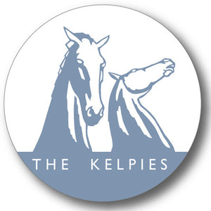 Kelpies Blue Logo Round Coaster<br>(Pack of 10)