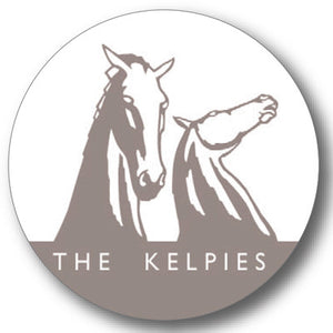 Kelpies Taupe Logo Round Coaster<br>(Pack of 10)