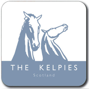Kelpies Blue Logo Square Coaster<br>(Pack of 10)