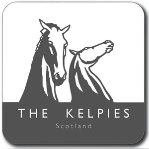 Kelpies Charcoal Logo Square Coaster<br>(Pack of 10)