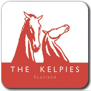 Kelpies Red Logo Square Coaster<br>(Pack of 10)