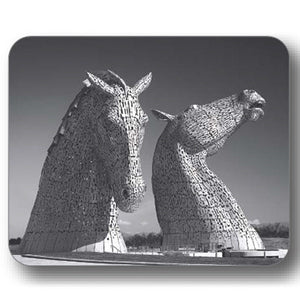 Kelpies Black and White Front View Coaster<br>(Pack of 10)