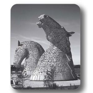 Kelpies Black and White Side View Coaster<br>(Pack of 10)
