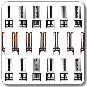 Chairs Coaster<br>(Pack of 10)