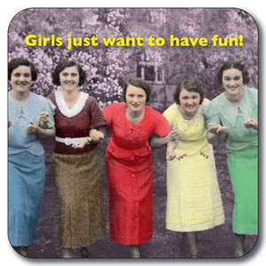 girls want to have fun Coaster<br>(Pack of 10)