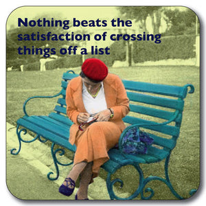 Crossing Off List  Coaster<br>(Pack of 10)