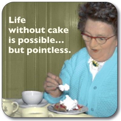 Life Without Cake Coaster<br>(Pack of 10)