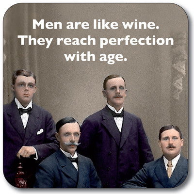 Men Are Like Wine Coaster<br>(Pack of 10)