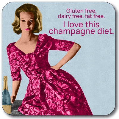 Champagne Diet Coaster<br>(Pack of 10)
