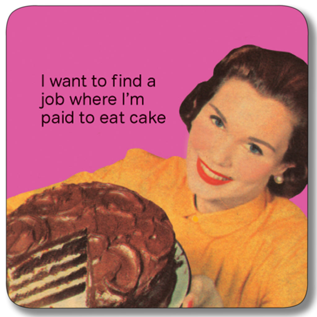 Paid to Eat Cake Coaster<br>(Pack of 10)